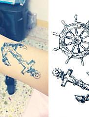 1 Tetovací nálepky Řada Message Non Toxic Spodní část zad WaterproofDítě Dámské Pánské Dospělý Dospívající Flash Tattoo dočasné tetování