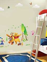 winnle na poooh se svým přítelem tygr králičí stěny štítku pro dětský pokoj zooyoo876 dekorativní odnímatelné PVC