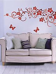 tmavě červený květ zeď umění zooyoo1702 obývací pokoj kutilství odnímatelná stěna nálepka ložnice obrazy na stěnu