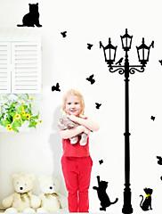 krásné kočky hrají s motýla kolem kandelábr Lepicí obraz na stěnu zooyoo030l odnímatelné PVC stěny nálepka