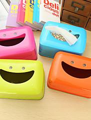 1PCS創造笑顔ティッシュボックスランダムな色
