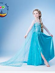 Dívka je Léto Směs bavlny Šaty Dlouhý rukáv