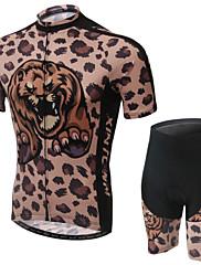 WEST BICIKLIZAM® Biciklistička majica s kratkim hlačama Žene Kratki rukav Bicikl Prozračnost / Podesan za nošenje / Pad 3D / Povratak džep