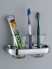 Držák na zubní kartáček / Koupelnové gadgety , Moderní Chrom Nástěnná montáž