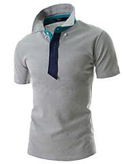 Pánské Směs bavlny Denní nošení/Sportovní Jednobarevné Polo Dlouhý rukáv