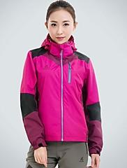女性のソフトシェルジャケットスポーツウェアのフード付きの屋外ソフトシェル防水ジャケット