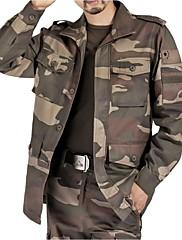 男性用 - 高通気性 / 耐久性 / 防風 - キャンピング&ハイキング / 釣り / クロスカントリー / バックカントリー - トップス / ジャケット / ウインドブレーカー ( 迷彩柄 ) - 長袖