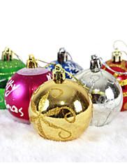 """6ks / sada 6 cm / 2,4 """"směs barev a stylů vánoční ozdoby zavěšené zářící bubles vánočními ozdoby míč stran"""