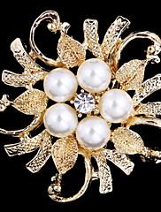 slitina perla šátek klip brož pro ženy párty