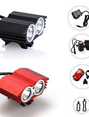 照明 ヘッドランプ / 自転車用ライト LED 2400 ルーメン 3 モード クリーXM-L2 18650 防水 / 充電式 / ストライクベゼル / ミリタリー / 緊急キャンプ/ハイキング/ケイビング / 日常使用 / サイクリング / 狩猟 / 釣り / 旅行 /