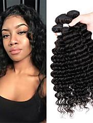 Lidské vlasy Vazby Brazilské vlasy Velké vlny 6 měsíců 3 kusy Vazby na vlasy