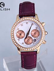Dámské Módní hodinky Křemenný Japonské Quartz Kůže Kapela Bílá Červená Hnědá Fialová Značka