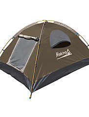 Makino 3-4 persons Tent Triple Camping Tent 2000-3000 mm Oxford Waterproof Breathability Quick Dry-Hiking Camping Outdoor-Yellow Purple