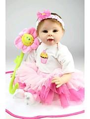 npkdoll生まれ変わった赤ちゃん人形柔らかいシリコーン22inchの55センチメートル磁気口美しいリアルなかわいい男の子の女の子のおもちゃピンクのヒマワリ