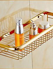 シャワーバスケット / 浴室小物 Ti-PVD ウォールマウント 45cm*15cm*7cm(17.7*5.9*2.75inch) 真鍮 ネオクラシック