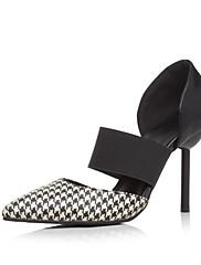 Sandály-Koženka-PohodlnéČerná Bílá-Outdoor Kancelář Šaty Běžné Party-Vysoký