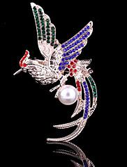 dámské crystal Fung-Hwang Phoenix zvíře brož pro svatební party dekorace šátkem, jemné šperky