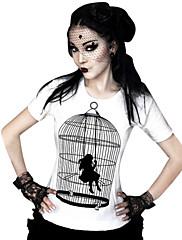 ブラウス/シャツ クラシック/伝統的なロリータ コスプレ ロリータドレス プリント Tシャツ のために ライクラ テリレン