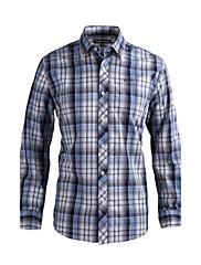 JamesEarl 男性 シャツカラー ロング シャツ&ブラウス 黒フェード - DA202029126