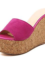 Ženske cipele-Sandale / Papuče-Aktivnosti u prirodi / Ležerne prilike-Flis-Puna potpetica-Pune pete / Štikle-Crna / Crvena