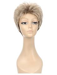 女性のための自然な短いマルチカラーの人気合成かつら