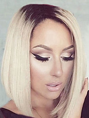 dvije nijanse srednje duge visoke kvalitete ravno bobo kosa ženska elegantna modni ombre sintetička perika celebrity