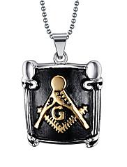 Pánské Náhrdelníky s přívěšky Přívěšky Nerez Titanová ocel Černá Šperky Denní Ležérní 1ks