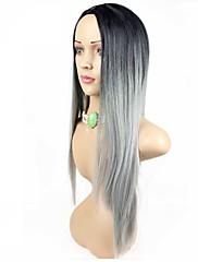modni sintetička perika visoka kvaliteta multi-color dugu ravnu žene