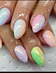 1ks nail art krása rybí moučka zlaté cibule Iridescence třpytky 10g sáčky pět barev nepovinné