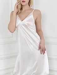 Ženy Ultra sexy Noční prádloStřední Polyester Hedvábí Bílá Červená