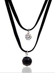 Dámské Obojkové náhrdelníky Náhrdelníky s přívěšky Perly Látka Kapka Módní Nastavitelná Přizpůsobeno Černá Šperky Denní Ležérní 1ks