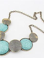 Dámské Prohlášení Náhrdelníky Slitina Bohemia Style Přizpůsobeno Prohlášení o šperky Módní Žlutá Zelená Modrá Šperky Denní Ležérní 1ks