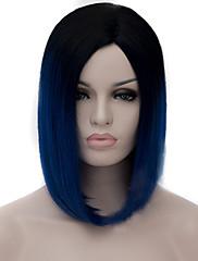 cosplay paruky černá spád mělké modré paruky body bobo krátká paruka 12 palců