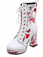 Boty-Syntetika Lakovaná kůže Koženka-Platformy Sněhule Gladiátorské Módní boty Boty s kolečky Novinky Kovbojské-Dámské-Červená Zelená