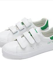 Žene Sneakers Proljeće Ljeto Jesen Zima Ostalo Umjetna koža Aktivnosti u prirodi Ležeran Atletika Ravna potpetica Kopča Crna Zelena Bijela