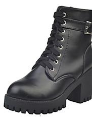 Boty-PU-Pohodlné-Dámské--Šaty Běžné-Kačenka Block Heel