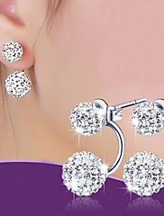 Sitne naušnice Naušnica Osnovni dizajn Klasika Moda Legura Lopta Pink Jewelry Za Vjenčanje Party Dnevno Kauzalni Božićni pokloni 1 par