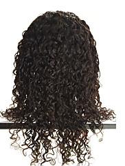 krajky přední paruky-Glueless brazilský Remy lidský vlas přírodní hluboké tělo vlna krajkové paruky s dítětem vlasy pro černé ženy