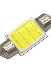 10x 36 milimetrů 3 w klas vedl 200lm 6000K studené bílé světlo dome podražcový čtení žárovka svítilny pro auta (DC 12V)