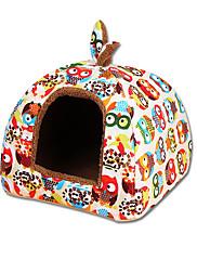 Cat Dog Bed Pet Mats & Pads Tent Multicolor Fabric