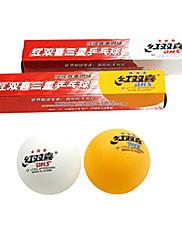 ユニセックス 卓球ボール 高弾性 イエロー ホワイト 6 プラスチック