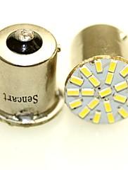 Sencart 10pcs 1156 p21w ba15s r10w 22x3014 ledet bil dagtimerne kører lys auto hale side indikatorlamper parkeringslampe pærer