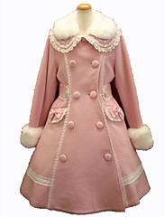 Abrigo Gosurori Princesa Cosplay Vestido  de Lolita Rosado Negro Rojo Moda Manga Larga Lolita Abrigo por