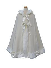 Capa Gosurori Princesa Cosplay Vestido  de Lolita Negro Blanco Moda Lolita Capa por