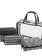 Ženy Skladovací taška PVC Celý rok Ležérní Bageta Zip Černá
