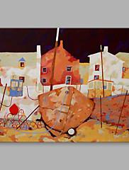 Hånd-malede Landskab Horisontal,Kunstnerisk Et Panel Kanvas Hang-Painted Oliemaleri For Hjem Dekoration