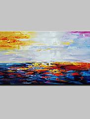 Hånd-malede Abstrakt Horisontal,Abstrakt Moderne Et Panel Kanvas Hang-Painted Oliemaleri For Hjem Dekoration