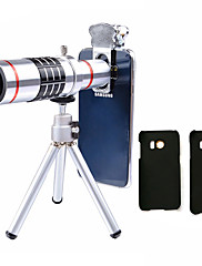 Lingwei 18x zoom samsung fotoaparát teleobjektiv širokoúhlý objektiv / stativ / držák telefonu / tvrdé pouzdro / taška / čistící hadřík