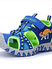 Drenge Sandaler Komfort Læder Sommer Afslappet Komfort Dyremønster Flad hæl Mørkegrå Marineblå Flad