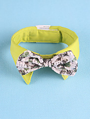 Cachorro Gravata/Gravata Borboleta Roupas para Cães Casual Bordado Verde
